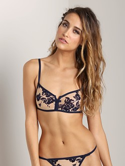 Huit Divine Idylle Underwire Triangle Bra Night Blue