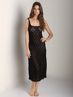 Only Hearts Stretch Lace Tank Gown Black