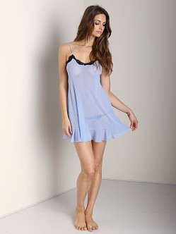 Only Hearts Tulle Ruffle Chemise Summer Sky/Black