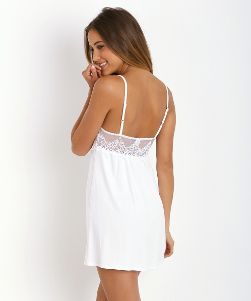Only Hearts So Fine with Lace Babydoll Chemise White