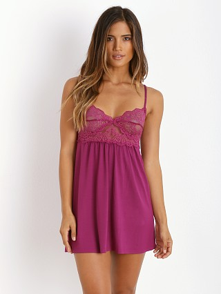Only Hearts So Fine with Lace Babydoll Chemise Wild Rose