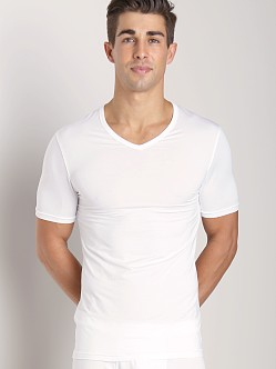 Naked Cotton Classic V Neck T-Shirt White
