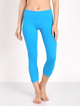Beyond Yoga Back Gathered Carpi Legging Aquatic Blue