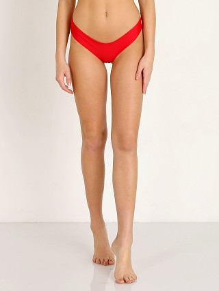 Model in red Kaohs Salty Bikini Bottom