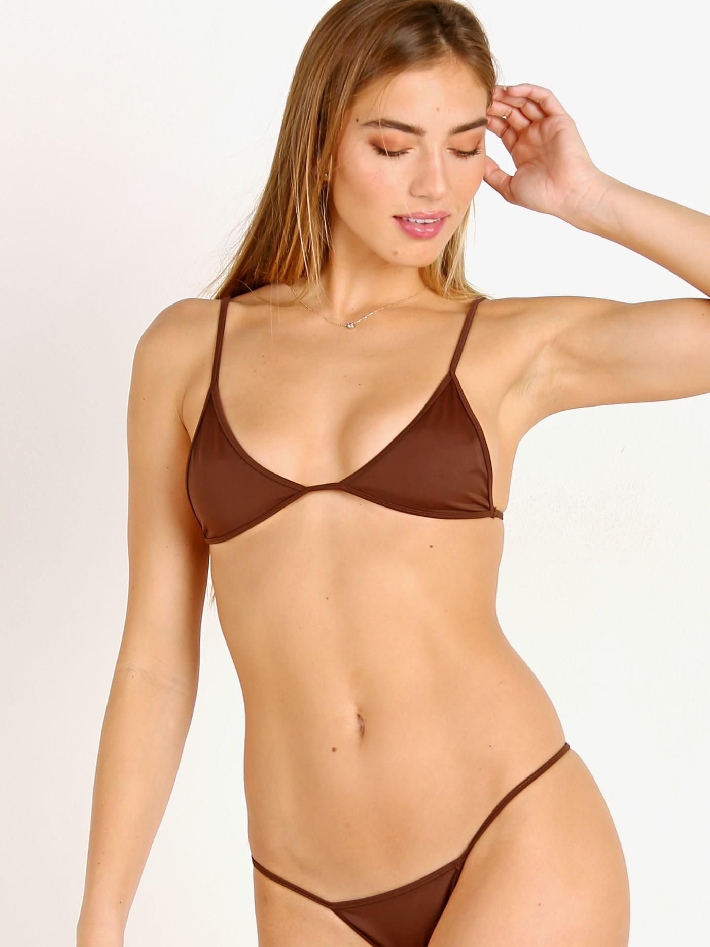 c93271944b2ba3 Kaohs Kelly Bikini Top Brown 822T - Free Shipping at Largo Drive
