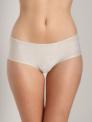 Only Hearts Metallic Jersey Ruche Cheeky Boyshort Platinum