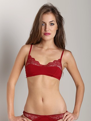 Only Hearts So Fine with Lace Bralette Crimson