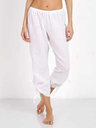 Eberjey Paz Side Tie Cropped Pant White