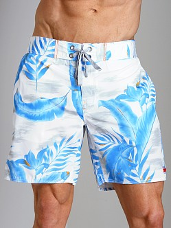Diesel Blans Palm Tree Swim Boxer Navy