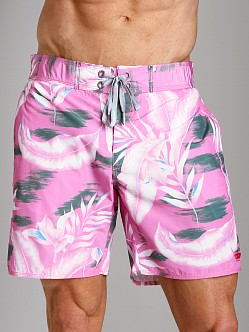 Diesel Blans Palm Tree Swim Boxer Pink