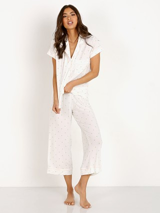 Eberjey Short Sleeve with Crop Pants Giving Palm