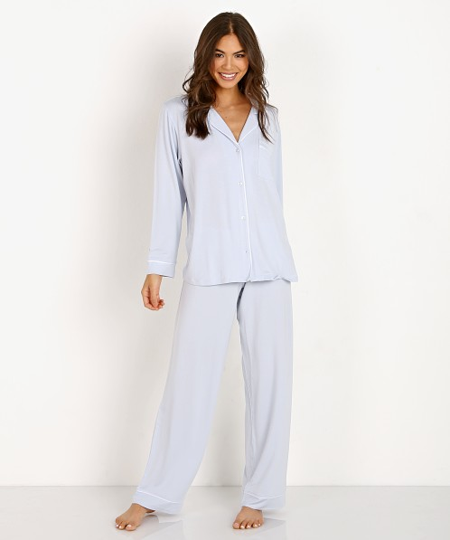 99ba007c7 Eberjey Gisele Long PJ Set Water Blue PJ1018 - Free Shipping at Largo Drive