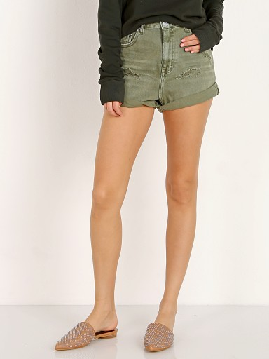 One Teaspoon High Waist Bandits Shorts Khaki