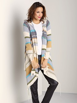 Goddis Linsey Cocoa Beach Hooded Wrap Sweater