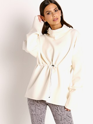 Model in eggnog Varley Barton Sweater