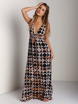 Indah Anjeli V-Neck Maxi Dress Tahiti