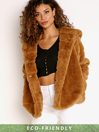 APPARIS Goldie Faux Fur Jacket Camel