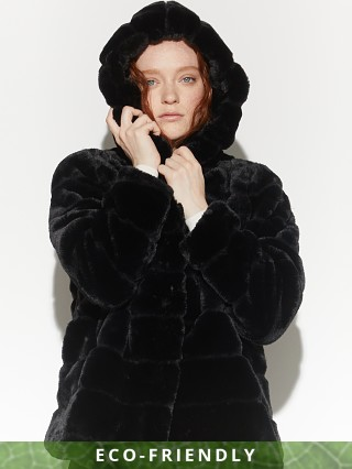 APPARIS Goldie Faux Fur Jacket Noir