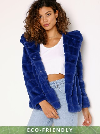 APPARIS Goldie Faux Fur Jacket True Blue