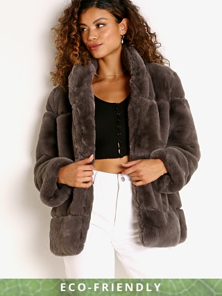 APPARIS Sarah Faux Fur Jacket Ash Gray