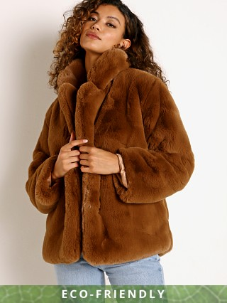 APPARIS Manon Faux Fur Jacket Camel