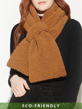 APPARIS Caroline Faux Shearling Scarf Camel