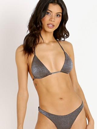Complete the look: Vitamin A Gia Triangle Bikini Top Metallic Graphite