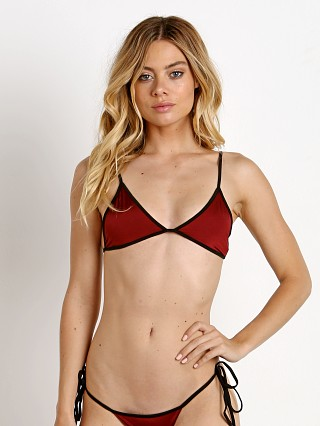 Indah AM Triangle Bikini Top Merlot
