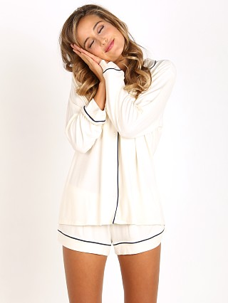 You may also like: Eberjey Gisele PJ's Long Sleeve with Short Set Ivory/Navy