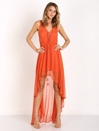 The Jetset Diaries Artisan Maxi Dress Terracotta