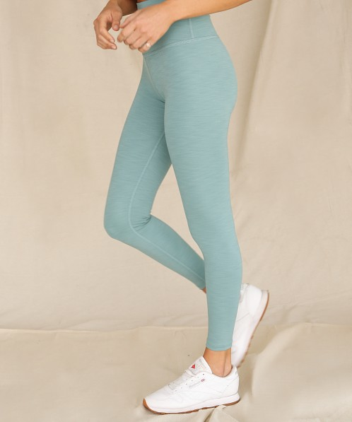 Beyond Yoga Heather Rib High Waisted Midi Legging Mermaid Green