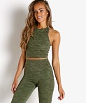 Beyond Yoga Studio Cropped Tank Eden Green Camo Jacquard, view 3