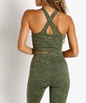 Beyond Yoga Studio Cropped Tank Eden Green Camo Jacquard, view 4