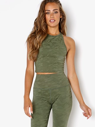 Complete the look: Beyond Yoga Studio Cropped Tank Eden Green Camo Jacquard