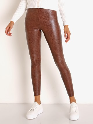 Commando Faux Leather Legging with Control Brown Croc