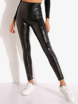 Commando Sequin Legging with Control Black