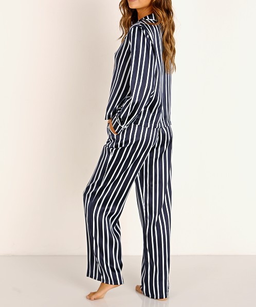 Splendid Long Sleeve + Pant PJ Set Bay Stripe