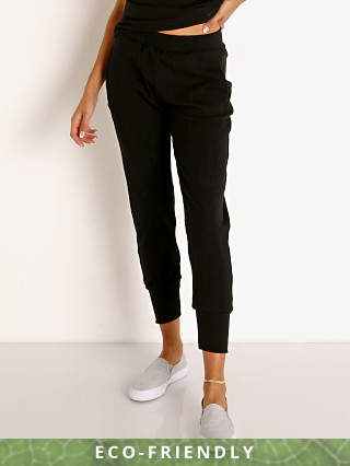 Model in black Vitamin A Organic Rib Silm Jogger