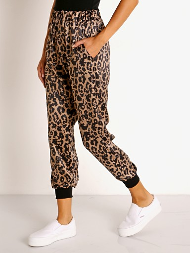 Model in leopard LNA Clothing  Drawstring Pant