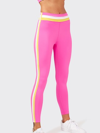 Model in fuchsia SPLITS59 Miles Mid Rise Leggings Techflex