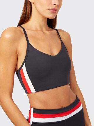 Model in graphite SPLITS59 Miles Techflex Sports Bra