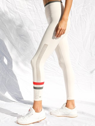 Model in ivory SPLITS59 Harley High Waist Seamless Legging