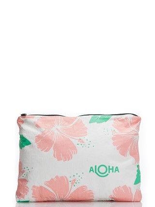 Aloha Hibiscus Mid Pouch Guava Hibiscus