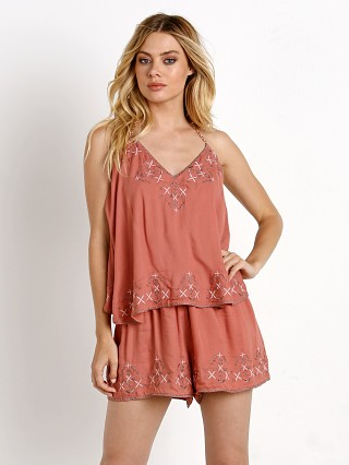 Model in rose The Jetset Diaries Desert  Romper