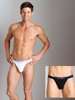 2xist Stretch Jock Straps 2-Pack Black/White