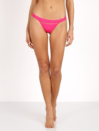 Model in berry Kopper & Zink Evie Bikini Bottom