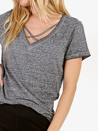 Model in heather grey n: PHILANTHROPY Robbie-V Neck Tee