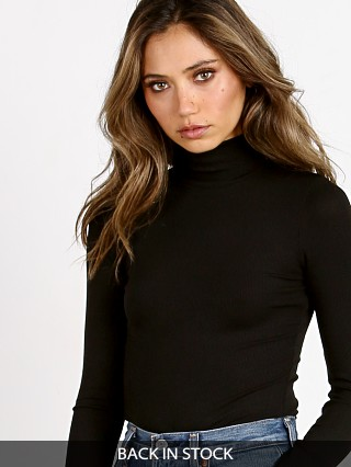 n: PHILANTHROPY Brooke-Turtle Neck Bodysuit Black Cat
