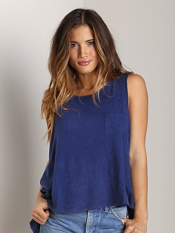 Free People Beach House Top Ink Blue
