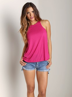 Free People Long Beach Tank Hot Pink